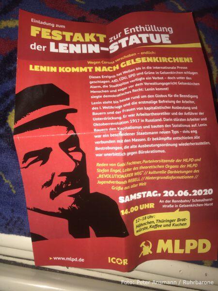 Werbung für die MLPD-Veranstaltung in der U11