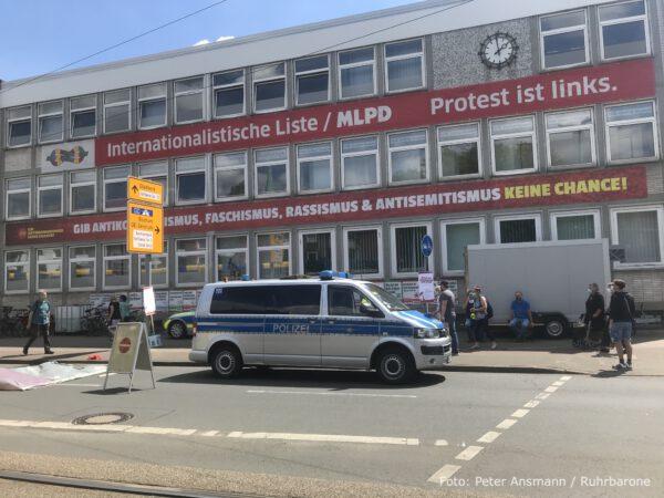 Die Parteizentrale der MLPD in der Schmalhorststraße in Gelsenkirchen-Horst.